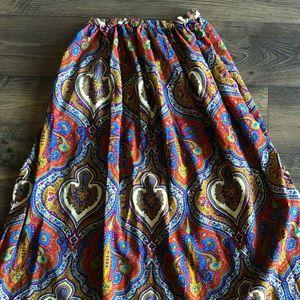 Dresses & Skirts - Boho Handmaid long colorful printed skirt